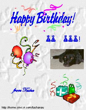 Happy Birthday from  Tasha