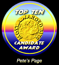Top Ten Candidate Award / Pete's Page