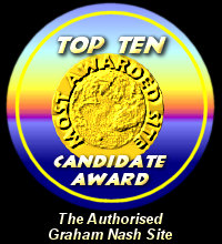 Top Ten Candidate Award / The Authorised Graham Nash Site