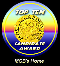 Top Ten Candidate Award / MGB's Home