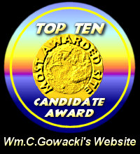 Top Ten Candidate Award / WM.C. Gowacki's Website