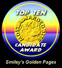Top Ten Candidate Award / Smiley's Golden Pages